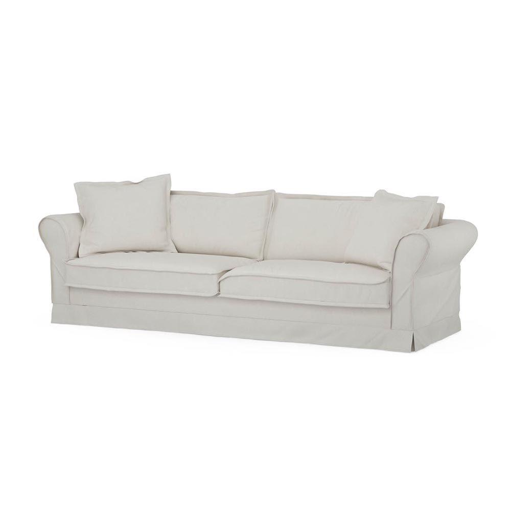 Carlton Sofa 3,5s, Oxford Weave, AlWhite