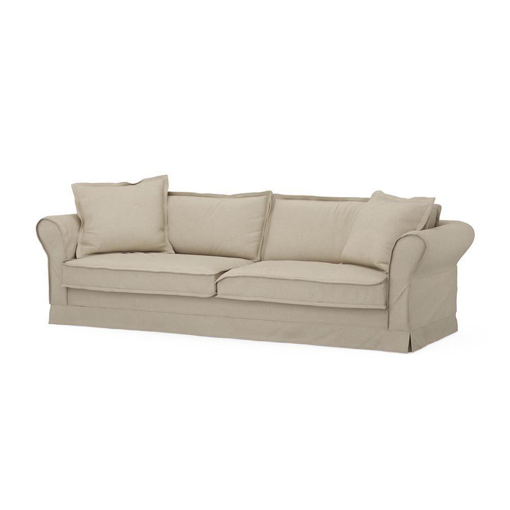 Carlton Sofa 3,5s, Oxford Weave, FlaFlax