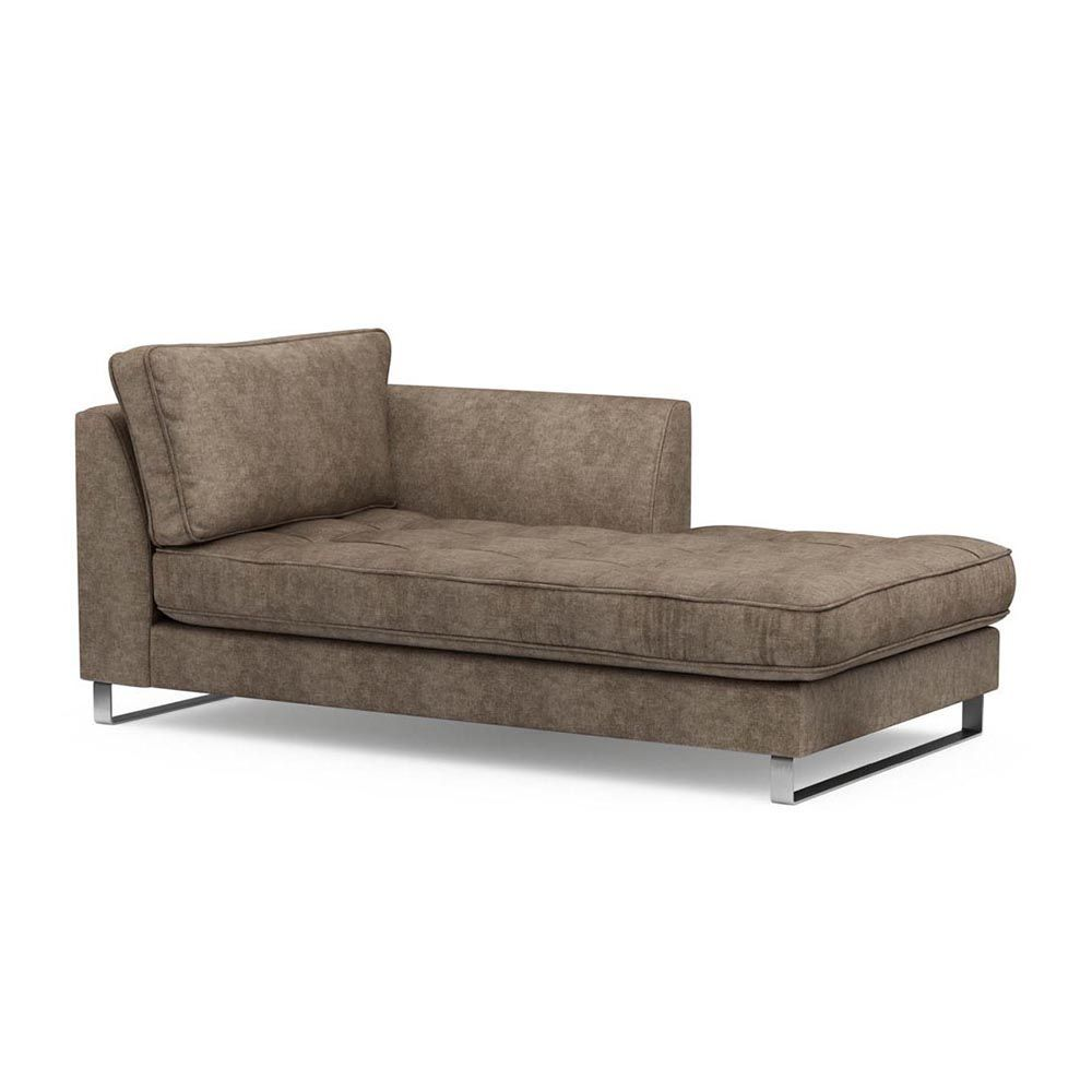 West Houston Chaise Longue Right, Velvet, Clay