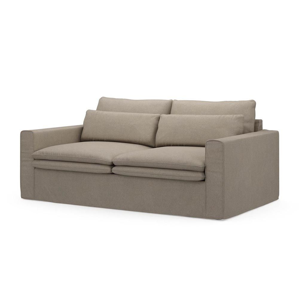 Continental Sofa 2,5s, Oxford Weave, AnvFlax