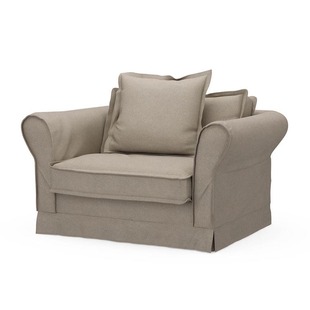 Carlton Love Seat, Oxford Weave, Flax