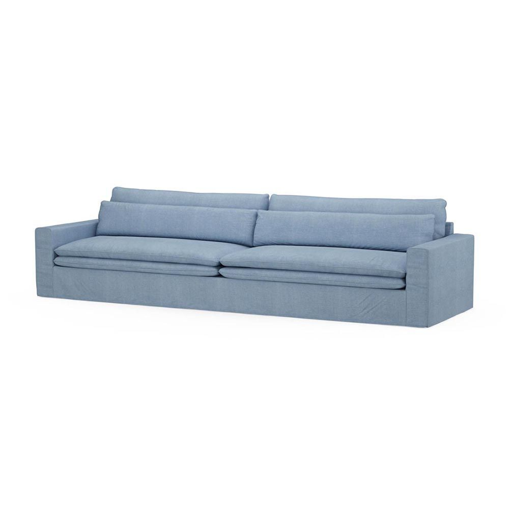 Continental Sofa XL, Washed Cotton, Ice Blue