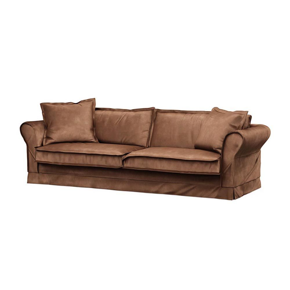 Carlton Sofa 3,5s, Velvet, Chocolate