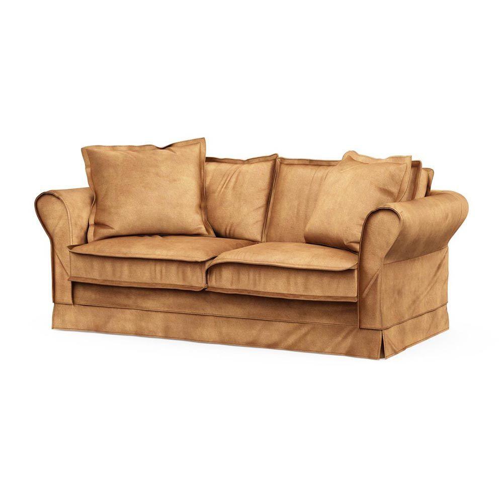 Carlton Sofa 2,5s, Velvet, Cognac