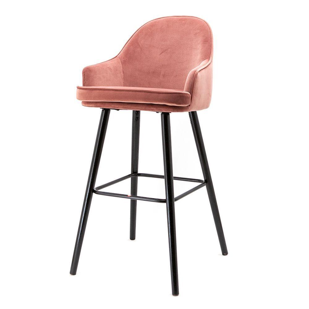 Nízká barová stolička Barbara, Pink Motown