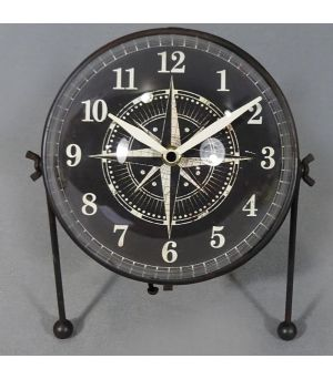 Black Iron Clock Compass S/2