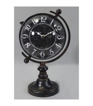 Black Iron Clock Globus