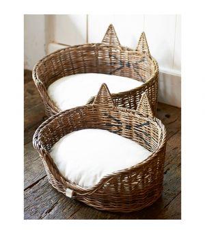 Košík pre mačku Rustic Rattan Cat Basket S / 2