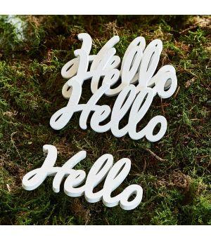 Dekorácie Hello Decoration Word 4ks