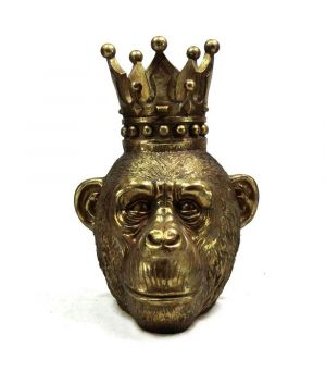 Monke Head w/Crown in Gold