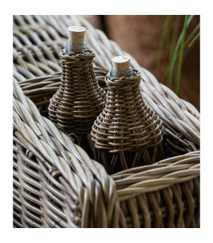 Fľaška Rustic Rattan Open Weave Bottle