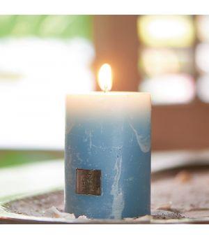 Sviečka Rustic Candle med. blue 7x10