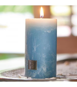 Sviečka Rustic Candle med. blue 7x13