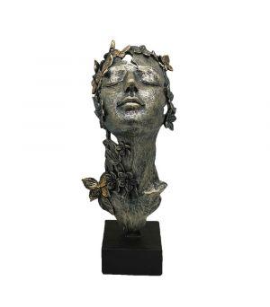 Busta Tvár ženy s motýľmi