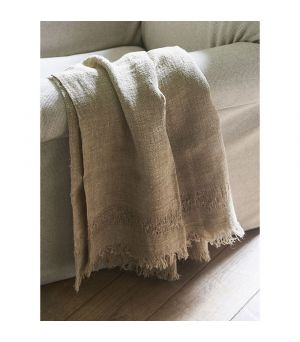 Deka Happy Island Throw taupe 180x130
