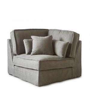 Metropolis modulárna sedačka, Washed Cotton, Stone