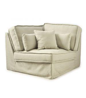 Metropolis modulárna sedačka, Washed Cotton, AshGrey