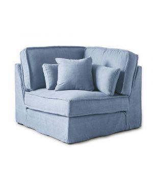 Metropolis modulárna sedačka, Washed Cotton, IceBlue