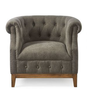 Medford Armchair, washed cotton