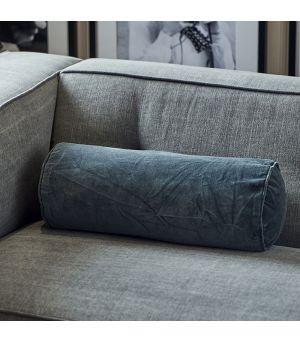 Velvet Roll Pillow Cover dark grey 50 x 2