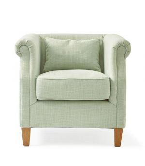 Cutler Park Club Chair, polyester linen
