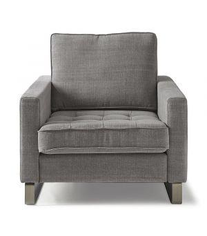 Kreslo West Houston, Washed Cotton, Grey