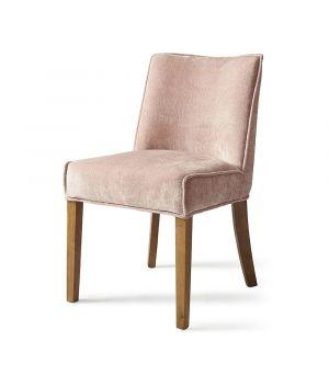 Jedálenská stolička Bridge Lane, Pink, Velvet