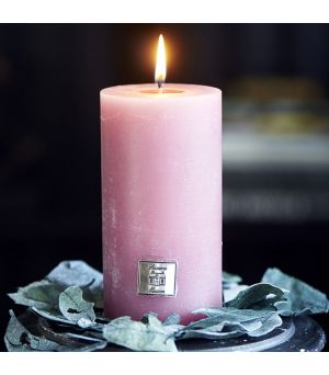 Rustic Candle raspberry 7 x 13