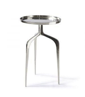 Faubourg End Table Nickel ∅ 42 cm