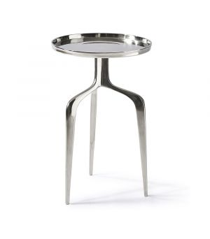 Faubourg End Table Nickel ∅ 35 cm