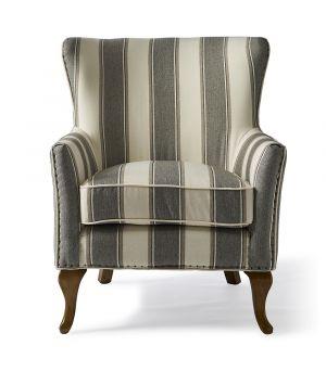 Kreslo Cavendish Stripe, Grey