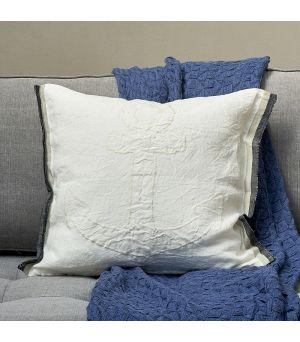 Návlek na vankúš Stromboli Linen Anchor Pillow Cover ecru 50 x 50