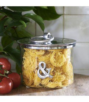 Dóza & Metal Storage Jar
