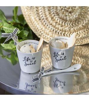 Misky na zmrzlinu Life Is Sweet Ice Cream  2 ks