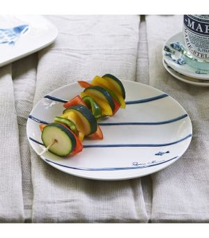Tanier Catch Of The Day Stripe Plate