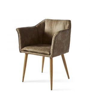 Megan Armchair Black Leg, Pellini, Coffee