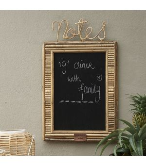 Tabuľa Rustic Rattan Notes Blackboard