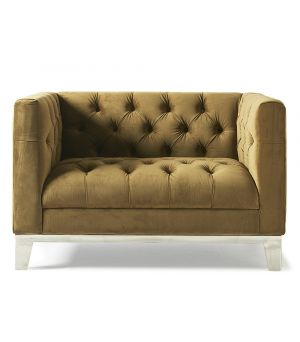 Ocean Park Loveseat, Velvet, Windsor Green