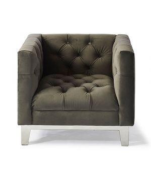 Ocean Park Armchair, Velvet, Grey