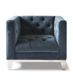 Ocean Park Armchair, Velvet, OC Blue