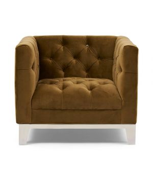 Ocean Park Armchair, Velvet, Win Green