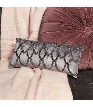 Návlek na vankúš Precious Royal Velvet Pillow platinum grey 45 x 20