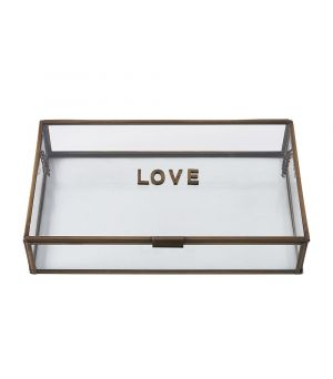 French Glass Love Box 30 x 18