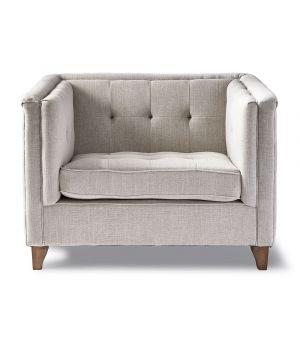 Radziwill Love Seat, Linen, FabFlax