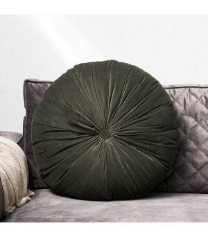 Vankúš  Velvet Round Pillow green