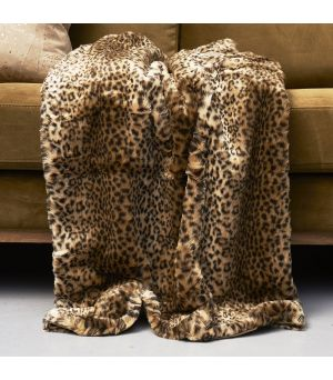 Deka Leopard Faux Fur Throw 170x130