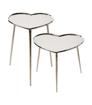 Stolíky Lovely Heart End Table S/2