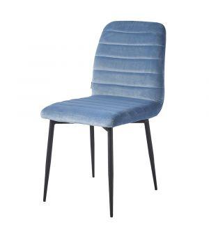 Jédalenská stolička Rockefeller Velvet Ice Blue
