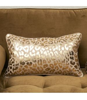 Návlek na vankúš Leopard Leather Pillow Cover gold 50 x 30