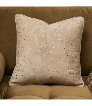 Návlek na vankúš Sparkle Spot Leather Pillow Cover gold 40 x 40